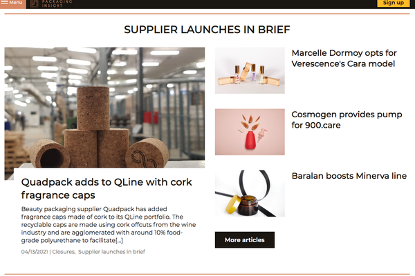 Supplier launches in brief: new content on Luxe Packaging Insight