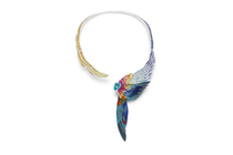 Piaget's Majestic Plumage marries jewels and feather marquetry