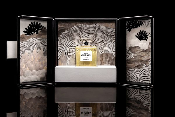 Chanel's fragrance coffret favors feathers and crystal